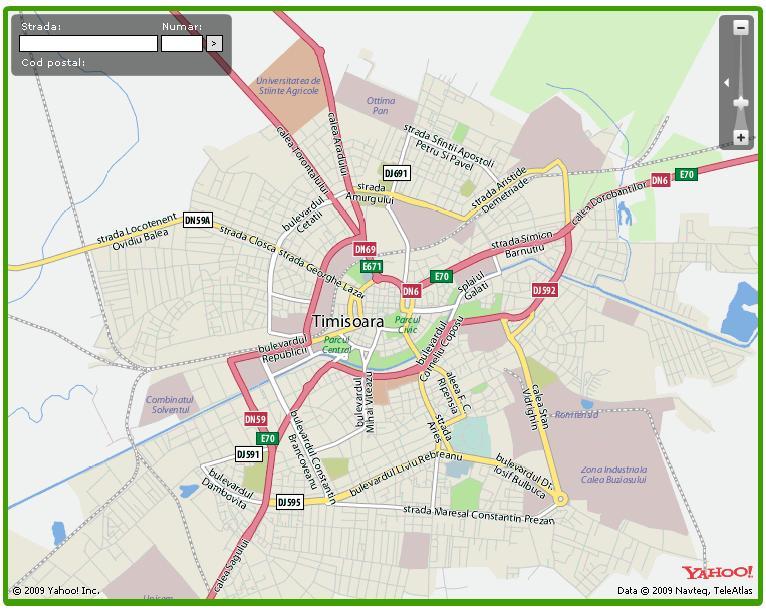 Harta Timisoara