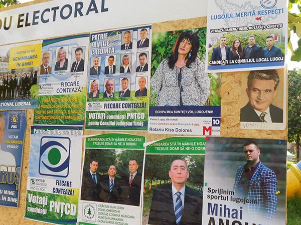 ceausescu panou electoral lugoj 2