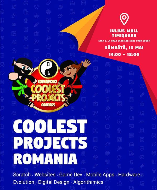 Competitia Coolest Projects 13 mai Iulius Mall