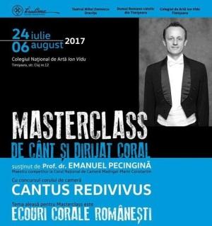 """c8d455b3405621 Colegiul Național de Artă """"Ion Vidu"""" din Timișoara găzduiește, până în 6  august, un masterclass de cânt și dirijat coral, susținut de prof. dr."""