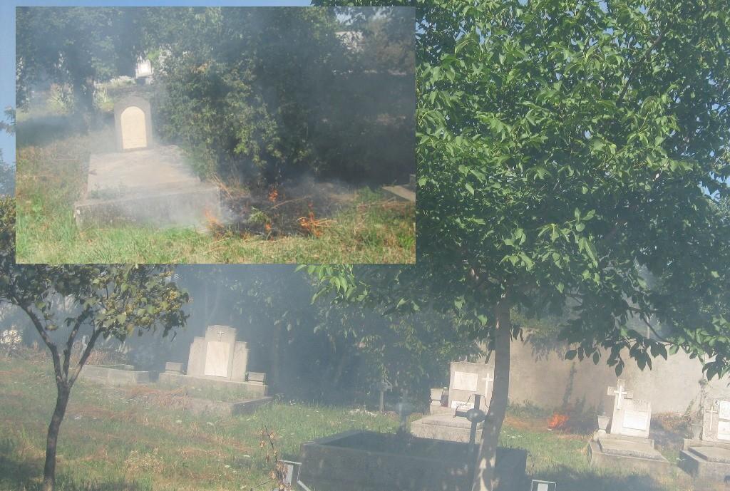 amenda 500 lei pentru foc in cimitir