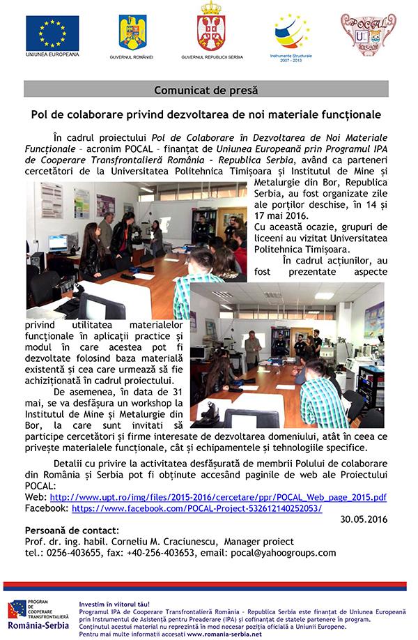 Press release romanaOpen day mai 2016 1 1 1 1